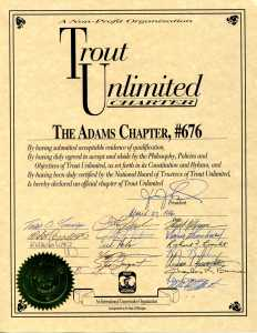 Adams Chapter #676 Charter Signed on March 12, 1996