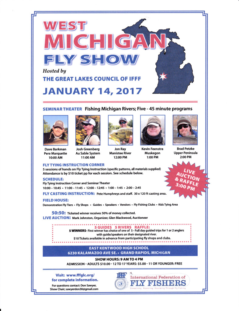 West Michigan Fly show January 14, 2017 @ East Kentwood High School | Grand Rapids | Michigan | United States